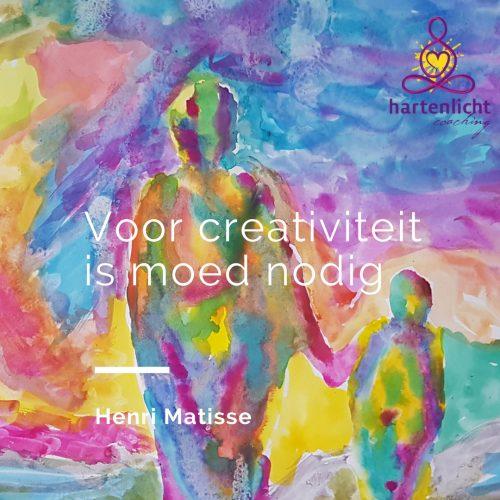 Voor creativiteit is moed nodig - Henri Matisse